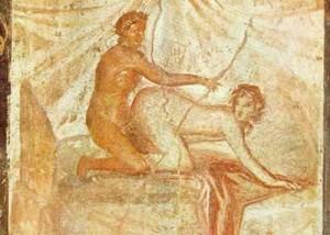 La levrette, fresque Musée de Naples - extrait de J. MARCADÉ, Roma Amor, 1968, Nagel, p. 90
