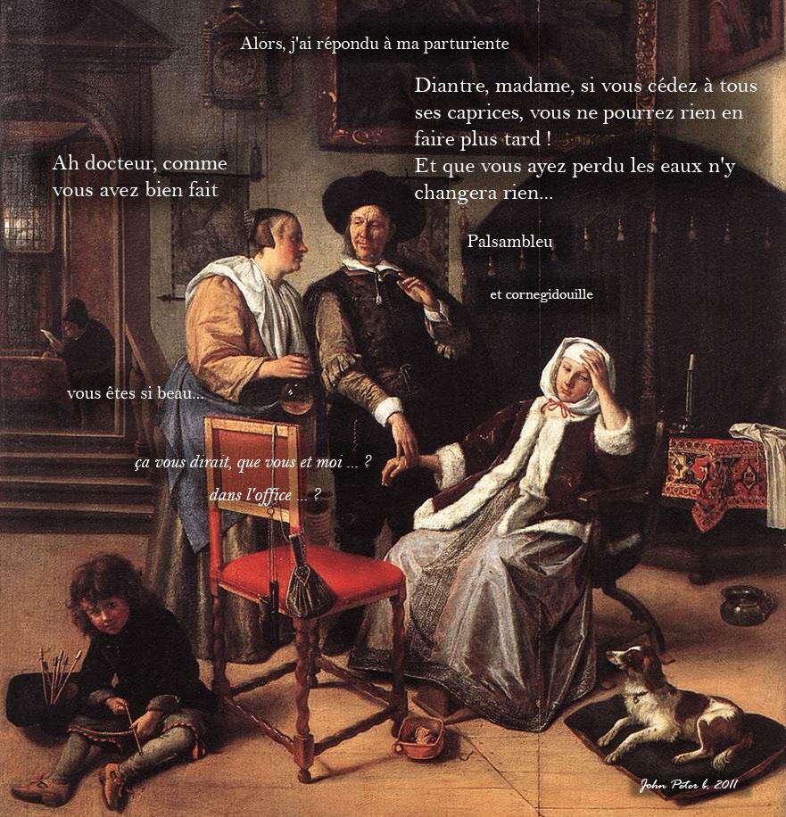 d'après Jan Steen (1626-1679) La visite du docteur